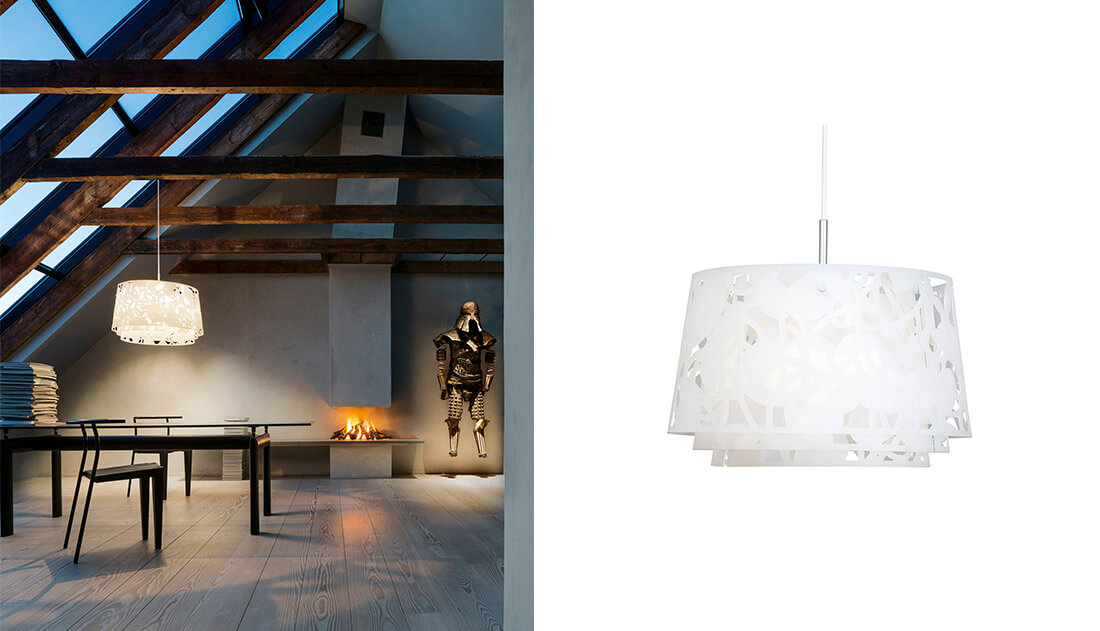 Collage lampe Ø45 cm | FINN.no